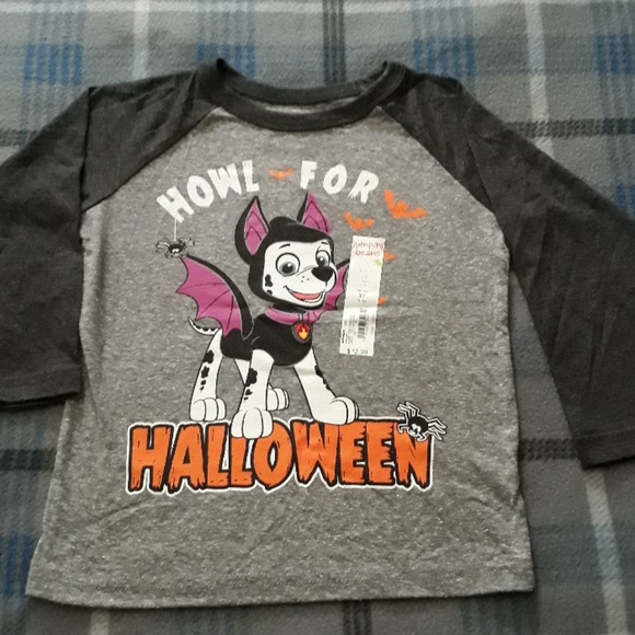 5T 4T NWT Baby Toddler Girl Clothes Halloween Paw Patrol Long Sleeve Size 3T